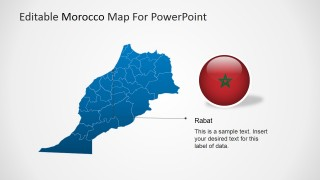 PowerPoint Map of Morocco with Capital City Marker