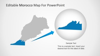 PowerPoint Map of Morocco with Magnified State