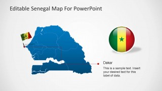 Senegal Editable Map PowerPoint Template Simple States