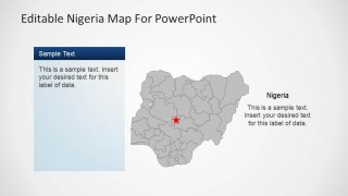 Editable Nigeria PowerPoint Map Gray background