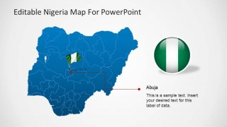 Editable Nigeria PowerPoint Map with Flag Icon