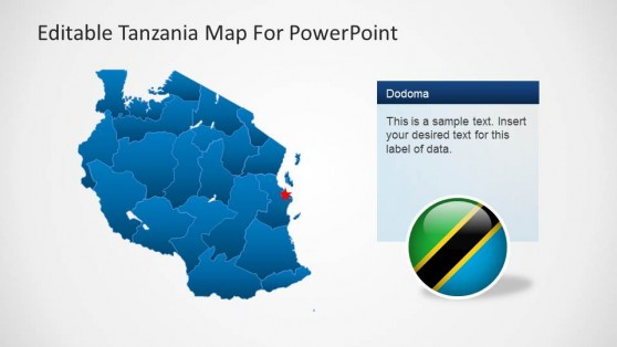 Editable Tanzania PowerPoint Map Outline
