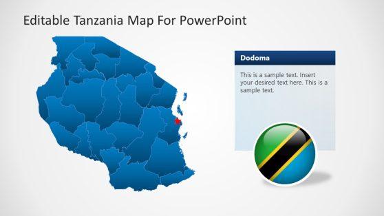 Editable Tanzania PowerPoint Map Outline