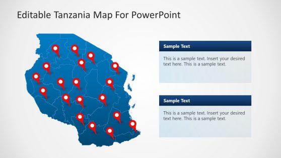 Tanzania PowerPoint Map