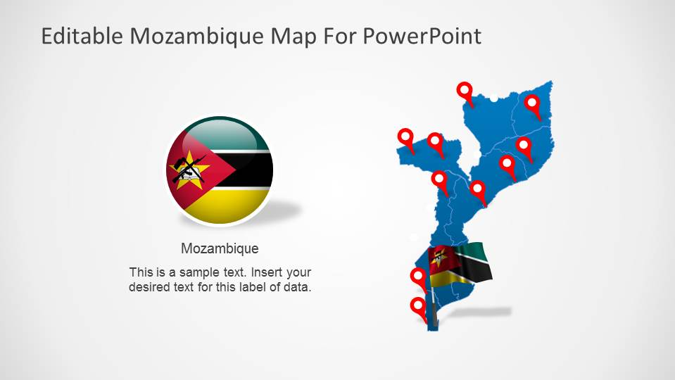 Editable Mozambique PowerPoint Map