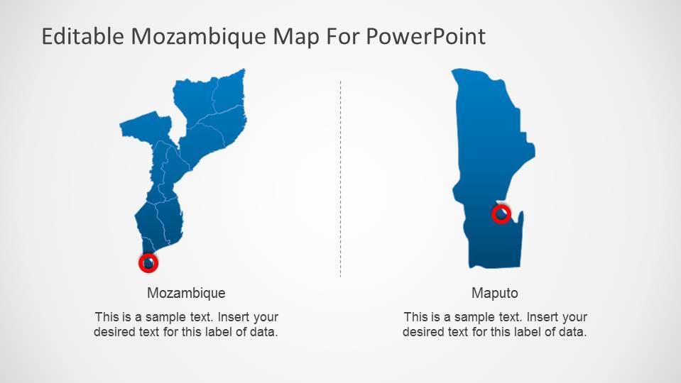 Editable Mozambique Map Powerpoint Template Slidemodel