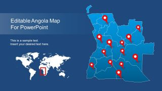 Editable Angola PowerPoint Map