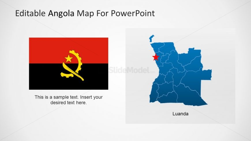 Flag of Angola Africa Country
