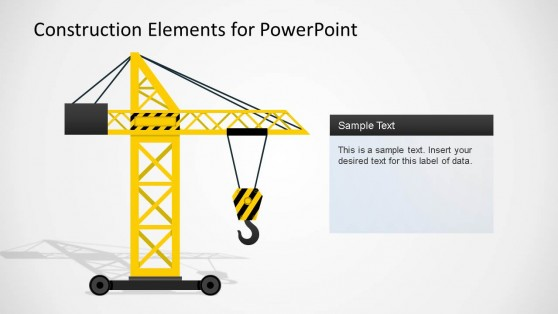 Construction Elements PowerPoint Shape Crane