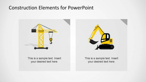 Construction Machines Clipart PowerPoint Template
