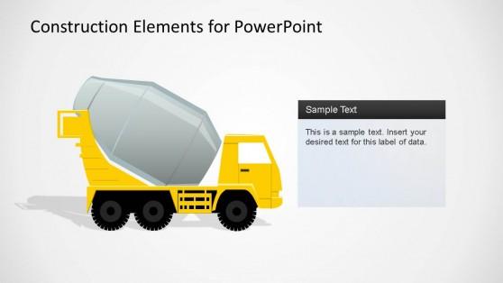 Construction Elements PowerPoint Shape Cement Truck