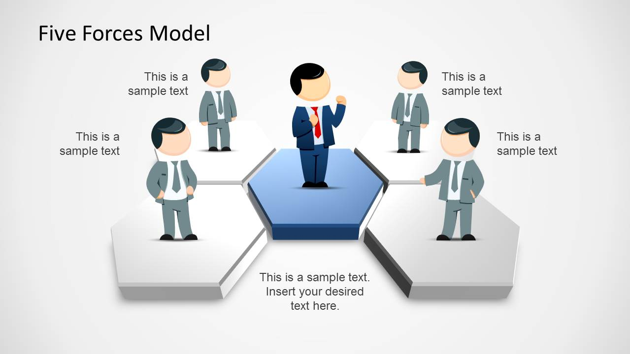 5 forces model template for powerpoint slidemodel for Porter 5 forces critique