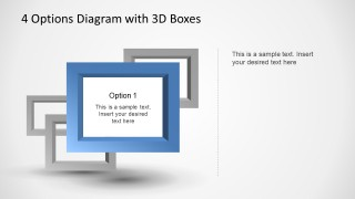 For 3D PowerPoint square frames simulating depth effect.