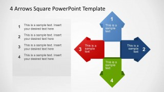 4 Arrows Square PowerPoint Template Summary
