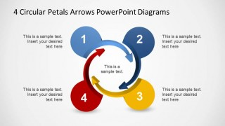 Four Steps Circular Arrows Diagram for PowerPoint