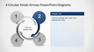 4 Circular Petals Arrows 3D