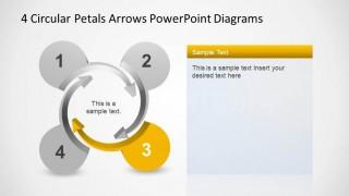 4 Circular Petals Arrows converging in spiral center