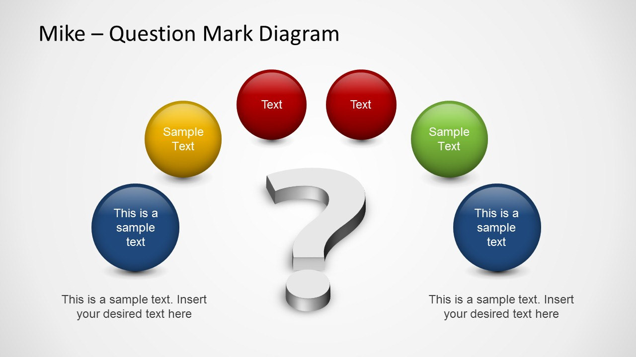 Too Many Questions PowerPoint Template - SlideModel
