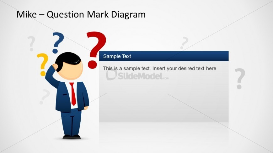 mike question mark diagram template for powerpoint slidemodel