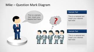 too many questions powerpoint template - slidemodel, Modern powerpoint