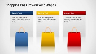Shopping Bags SALE PowerPoint Three Descriptions
