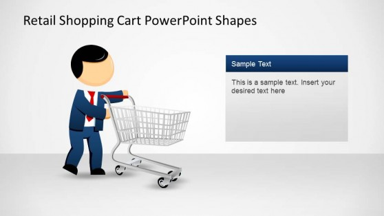 Retail Shopping Cart PowerPoint Shapes with Mike