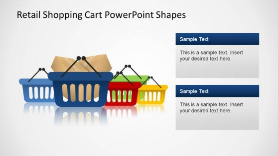 Retail Hand Shopping Cart Shapes for PowerPoint