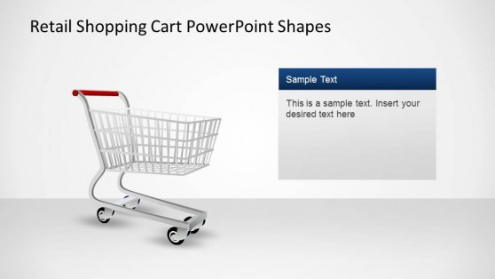 Shopping Cart PowerPoint Shapes