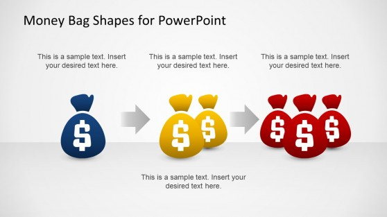 3 Money Bag Shapes for PowerPoint