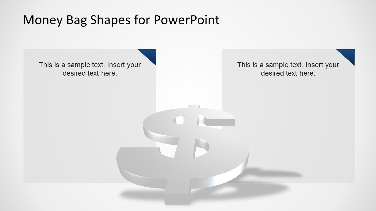 PowerPoint Slide With 3D Dollar Symbol