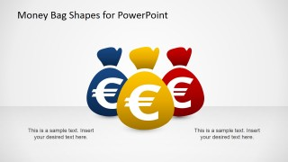Slide Design of Colorful Money Bags with Euro Currency