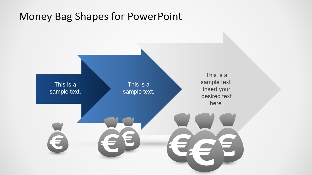 Money Bags Clipart with Euro Sign For PowerPoint - SlideModel
