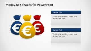 PowerPoint Shapes of Money Bags with Euro