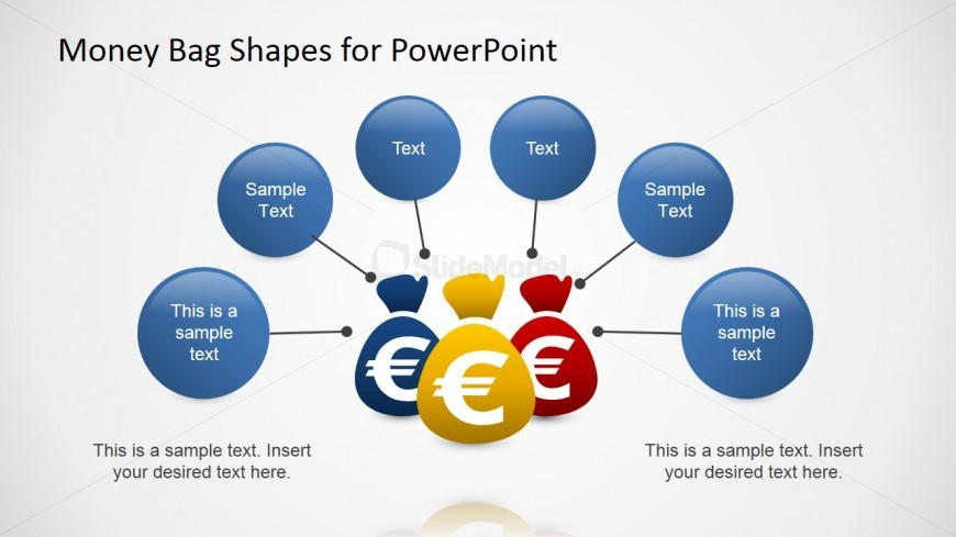 PowerPoint Shapes of Money Bags as Wealth Metaphor