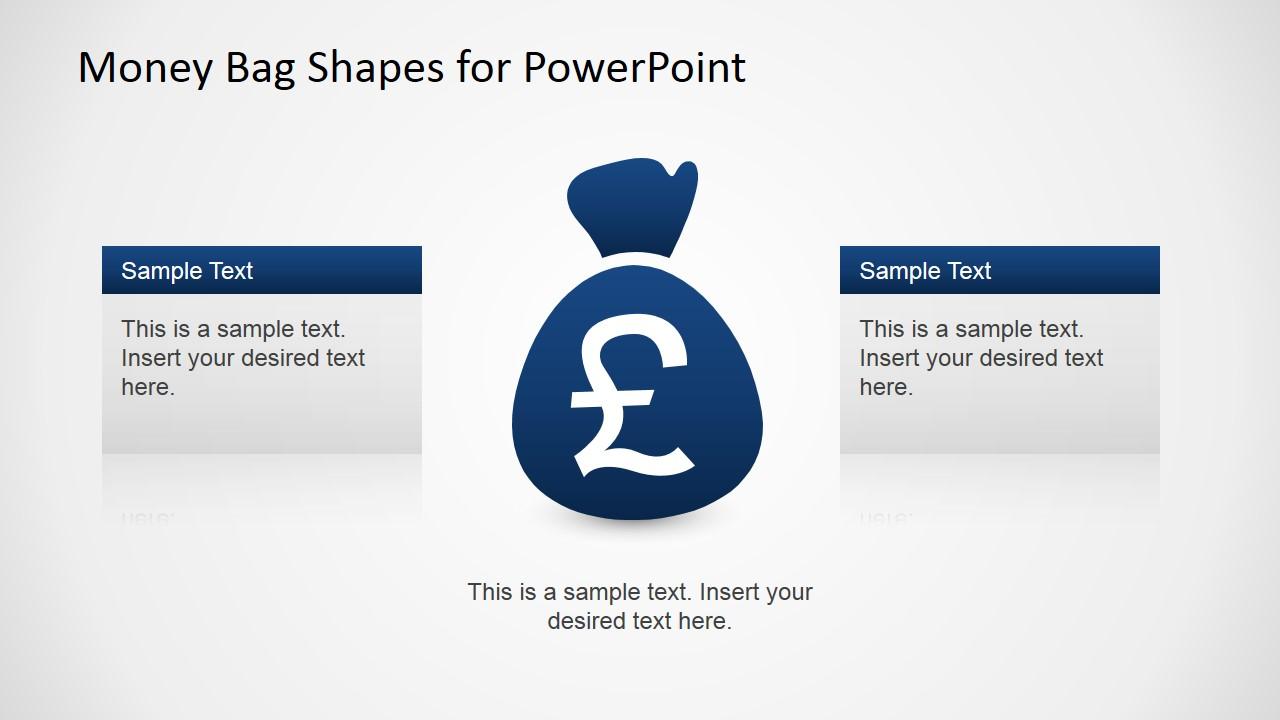 British Pound Money Bag Clipart for PowerPoint