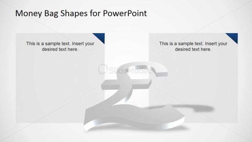 Professional 3d Slide Design Of British Pound Currency Symbol