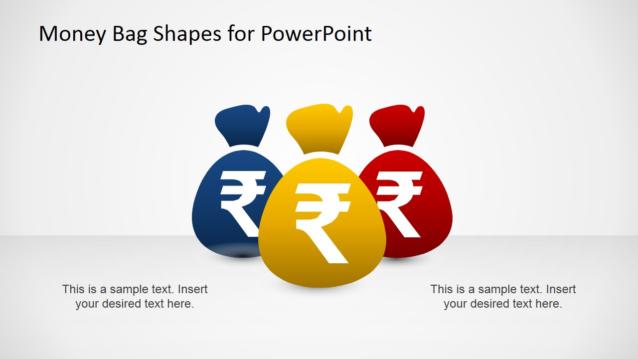 money bags with indian rupee powerpoint template - slidemodel, Modern powerpoint