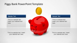 Creative Piggy Bank PowerPoint Shapes Template