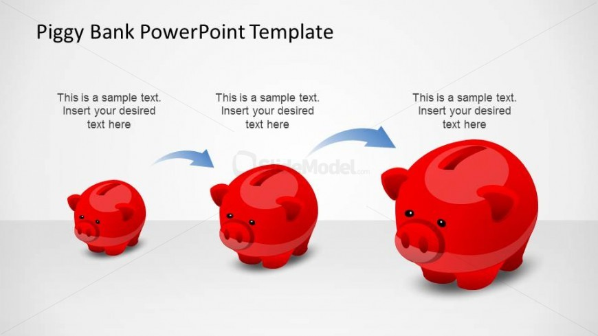 Creative Piggy Bank PowerPoint Shapes Growing