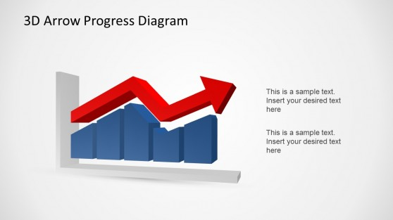 Area and Lines PowerPoint 3D Charts