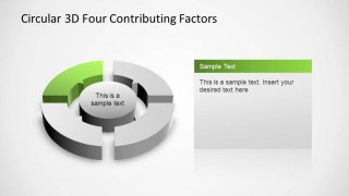 4 Steps Circular PowerPoint Diagram with fourth step highlighted
