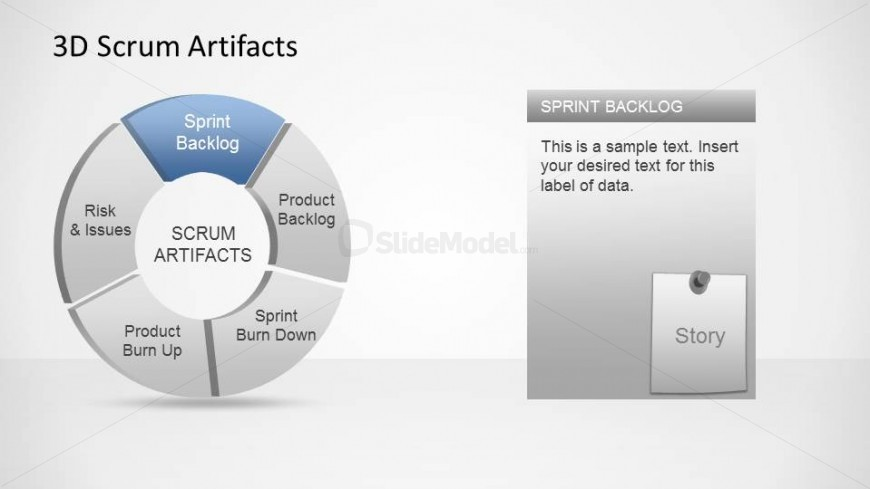 agile artifacts templates 3d agile scrum artifacts powerpoint diagram sprint backlog