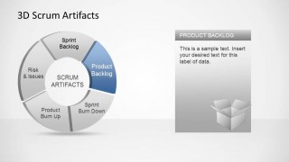 3D Agile Scrum Artifacts PowerPoint Diagram Product Backlog