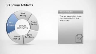 3D Agile Scrum Artifacts PowerPoint Diagram Impediments