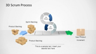 3D Agile Scrum PowerPoint Diagram Stylish