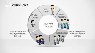 3D Agile Scrum Roles PowerPoint Diagram