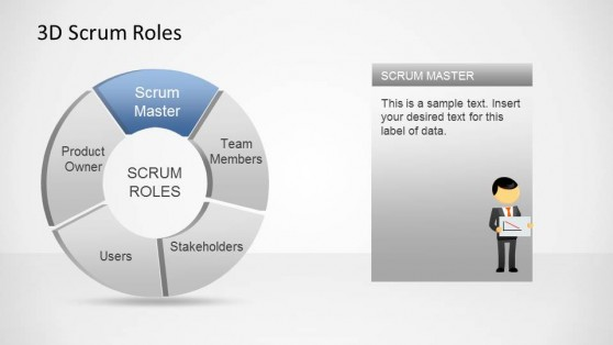 3D Agile Scrum Roles PowerPoint Diagram Scrum Master