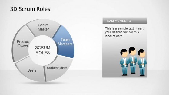 3D Agile Scrum Roles PowerPoint Diagram Team Members