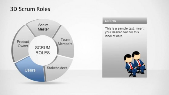 3D Agile Scrum Roles PowerPoint Diagram Users