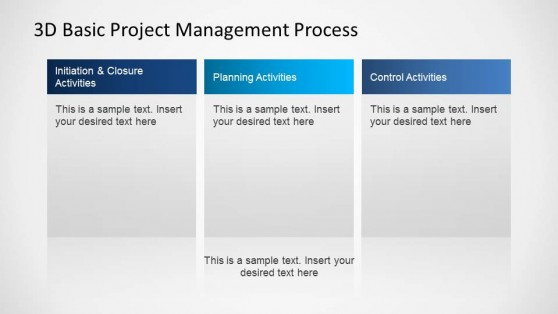 3D Basic Project Management PowerPoint Diagram Description